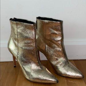 Schutz Gold Foil Ankel Booties